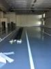finální úprava epoxidové podlahy na akci TRUCK PORT HRADEC KRÁLOVÉ včetně dopravního značení
